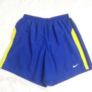 Nike Dri-Fit Running Shorts Medium Blue Elastic